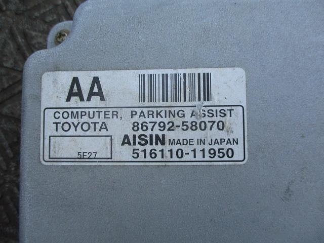Computer, Parking Assist, Toyota, 8679258070