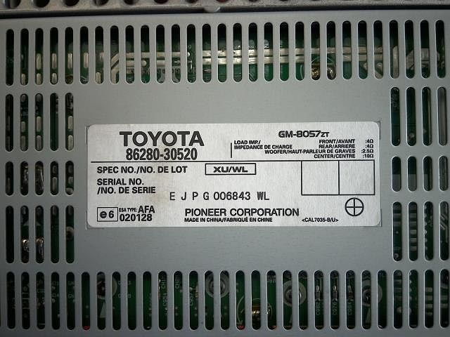 Amplifier Assy, Stereo Component, Toyota, 8628030520