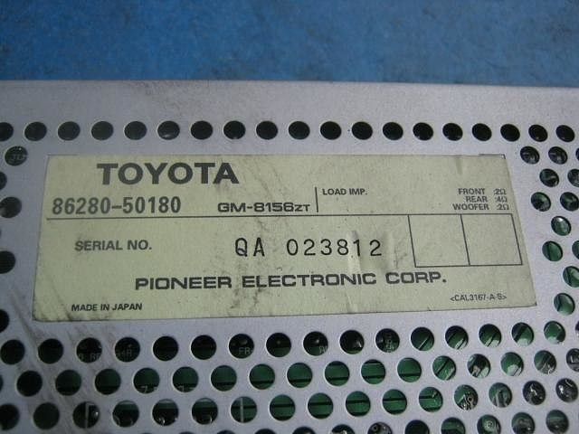 Amplifier Assy, Stereo Component, Toyota, 8628050180