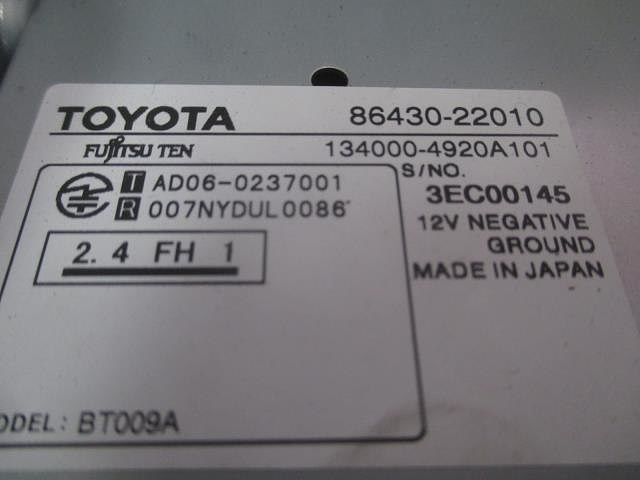 Display Assy, Multi-media Module, Toyota, 8643022010