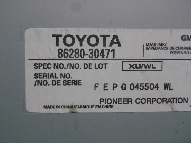 Amplifier Assy, Stereo Component, Toyota, 8628030471