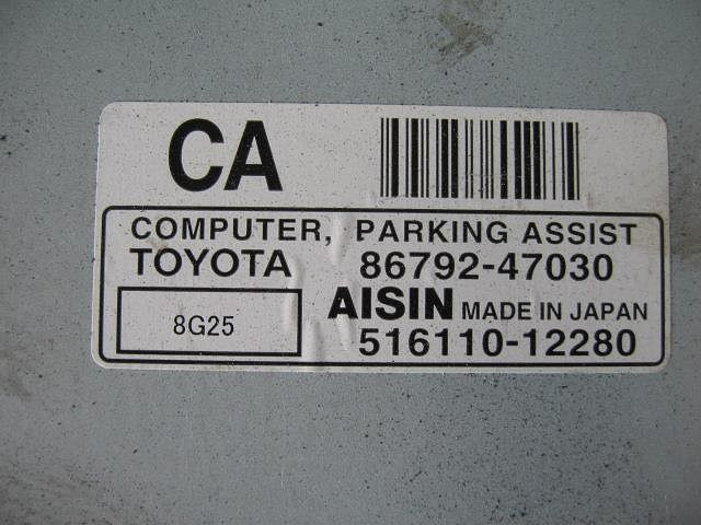 Computer, Parking Assist, Toyota, 8679247030